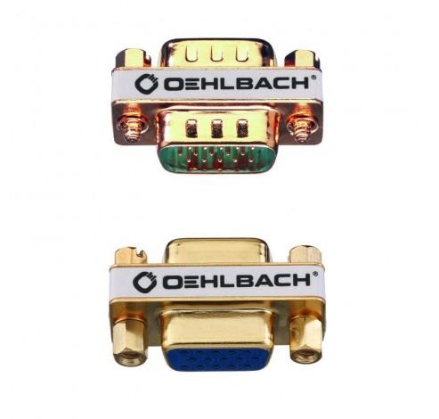 9061 VGA adapter m/m goud  Oehlbach