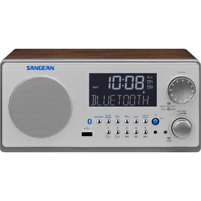 WR-22 houten cabinet radio USB BT walnoot Sangean