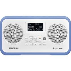 DPR-77 digitale radio stereo DAB+ wit/blauw
