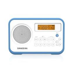 PR-D18 draagbare AM/FM radio wit/blauw