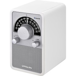 WR-15 BT retro radio BT highgloss wit