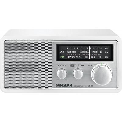 WR-11 tafelmodel retro radio wit Sangean