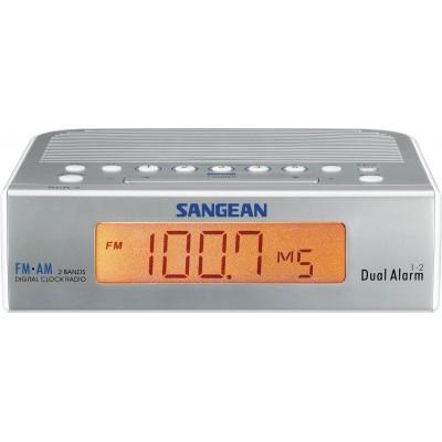RCR-5 radio-réveil numérique gris argenté Sangean
