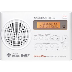 DPR-69 draagbare radio incl. adapter DAB+ wit Sangean