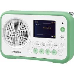 DPR-76 digitale stereo receiver DAB+/FM wit/groen