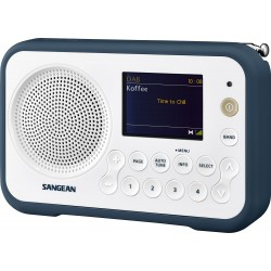 DPR-76 digitale stereo receiver DAB+/FM wit/inktblauw