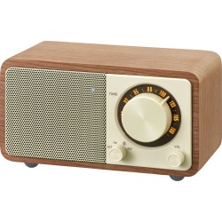 WR-7 (Genuine Mini) houten cabinet radio FM/BT walnut