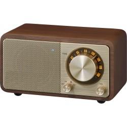 WR-7 (Genuine Mini) houten cabinet radio FM/BT kers
