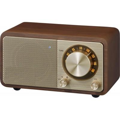 WR-7 (Genuine Mini) houten cabinet radio FM/BT kers Sangean