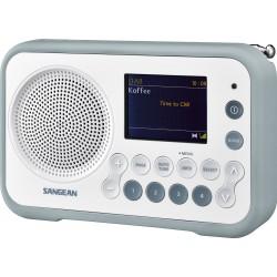 DPR-76 digitale stereo receiver DAB+/FM wit/steenblauw