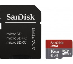 MicroSDHC Ultra 16GB 98MB/s A1 Cl.10 + Adapt - Photo Sandisk