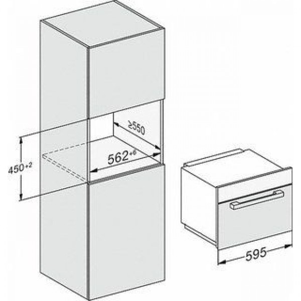 Miele Microgolfoven inbouw M 7240 TC CS