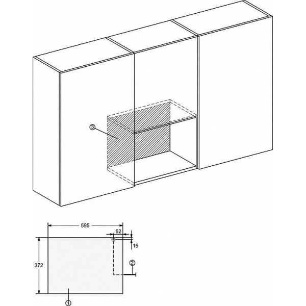Miele Microgolfoven inbouw M 2234 OBSW