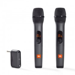 WIRELESS MIC 2x wireless mic zwart  JBL