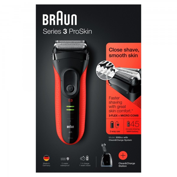 Series 3 ProSkin 3050cc Clean&Charge Red Braun