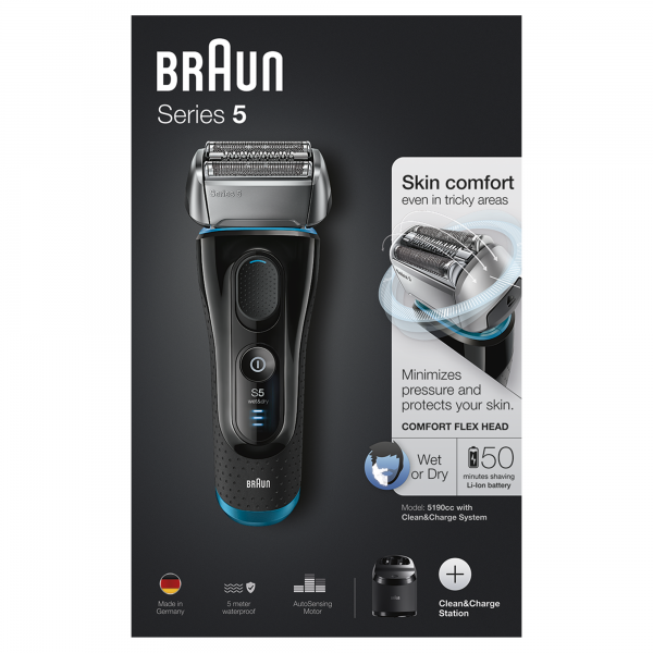 5190cc Series 5 Wet & Dry + Clean & Charge Braun