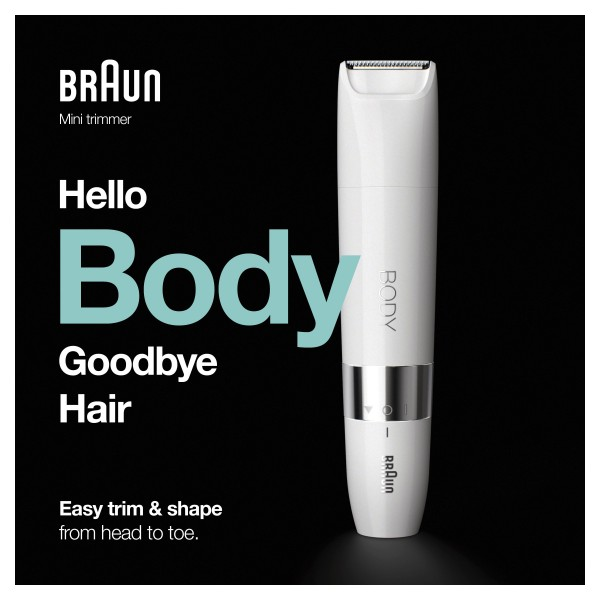 Body BS1000 Mini Trimmer Wit Braun