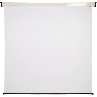 Rollo-Projektionswand, 180 x 180 cm, 1:1  Hama