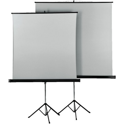 Tripod Projectiescherm, 125 x 125cm, Duo  Hama