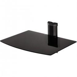 Wandsteun voor hifi component met 1 glazen boord Black  Hama