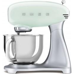Keukenmachine pastelgroen met zilver