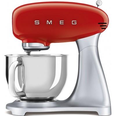 Keukenmachine rood met zilver Smeg
