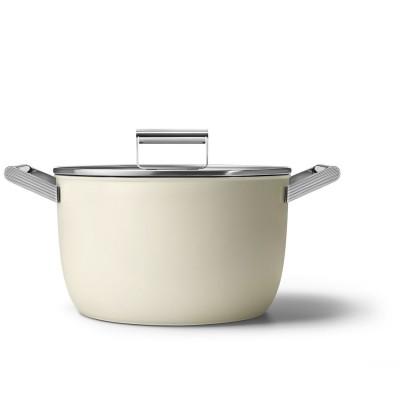 Kookpot met glazen deksel 26 cm crème