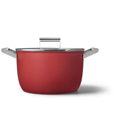 Kookpot glazen deksel 26 cm rood  Smeg