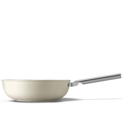 Wok 30 cm Crème  Smeg