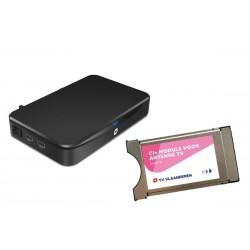 Antenne TV decoder met CI+ module en smartcard