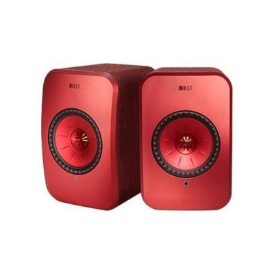 LSX Wireless Music System Maroon (Paar) KEF