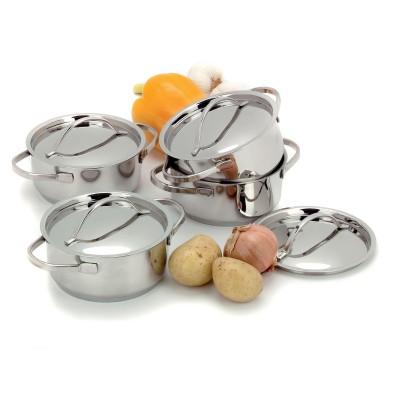 Mini kookpotjes/-pannetjes set van 4 Demeyere