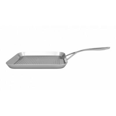 Intense Grillpan 28 X28 cm + gratis Cuisipro RVS serveertang 24 cm Demeyere