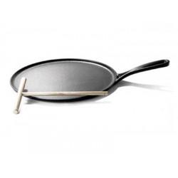 Pannenkoekenpan 27cm mat zwart