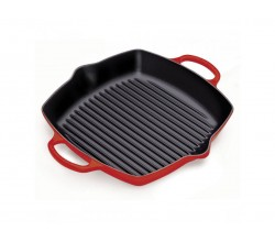 Hoge grillplaat 30cm Kersenrood Le Creuset