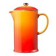 Koffiepot met pers 0,8l Oranjerood