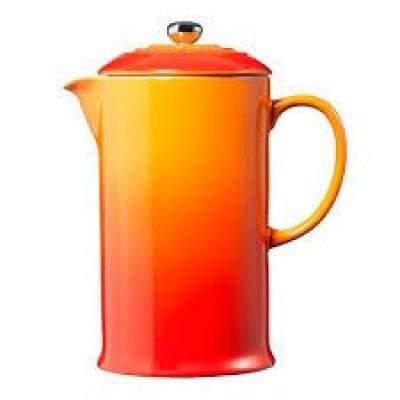 Koffiepot met pers 0,8l Oranjerood   Le Creuset