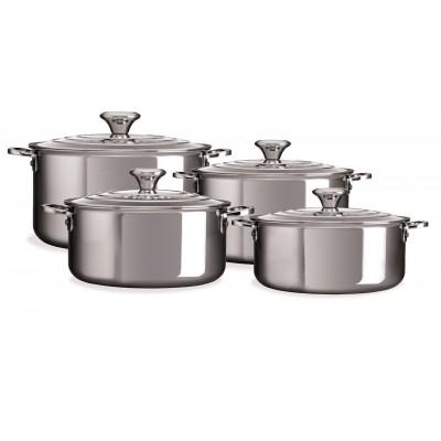 RVS 4-delige kookpannenset