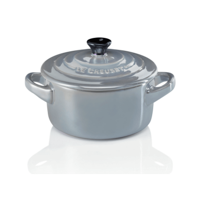 Mini braadpan 10cm Pearlized Light Mist Grey  Le Creuset