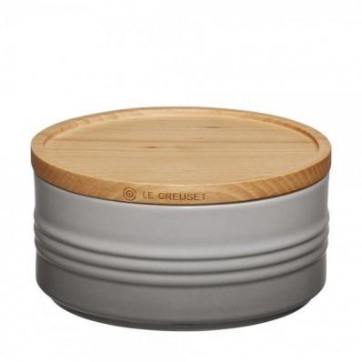 Voorraadpot met houten deksel 6cm 0,7l Mist Grey