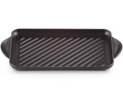 Gietijzeren rechthoekige grill 32cm Mat Zwart Le Creuset