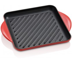 Vierkante grill 24cm Kersenrood Le Creuset