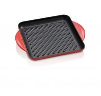 Vierkante grill 24cm Kersenrood