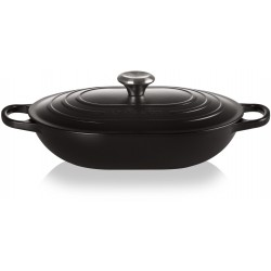 Oblong Gietijzer 3,4L mat zwart