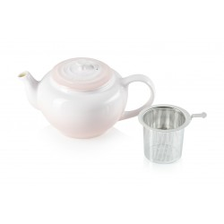 Theepot met RVS filter 1L Shell Pink