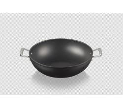 Anti-aanbak wokpan 32cm 6l Zwart Le Creuset