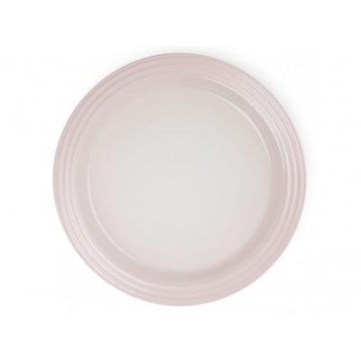 Aardewerken dinerbord in Shell Pink 27cm Le Creuset