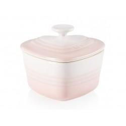 Aardewerken ramekin in hartvorm in Shell Pink 300ml  Le Creuset