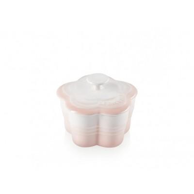 Aardewerken ramekin als bloem met deksel in Shell Pink 200ml Le Creuset