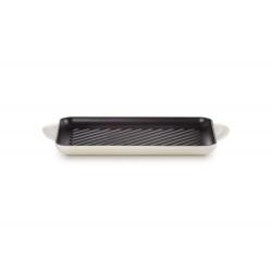 Gietijzeren rechthoekige grill 32cm Meringue  Le Creuset